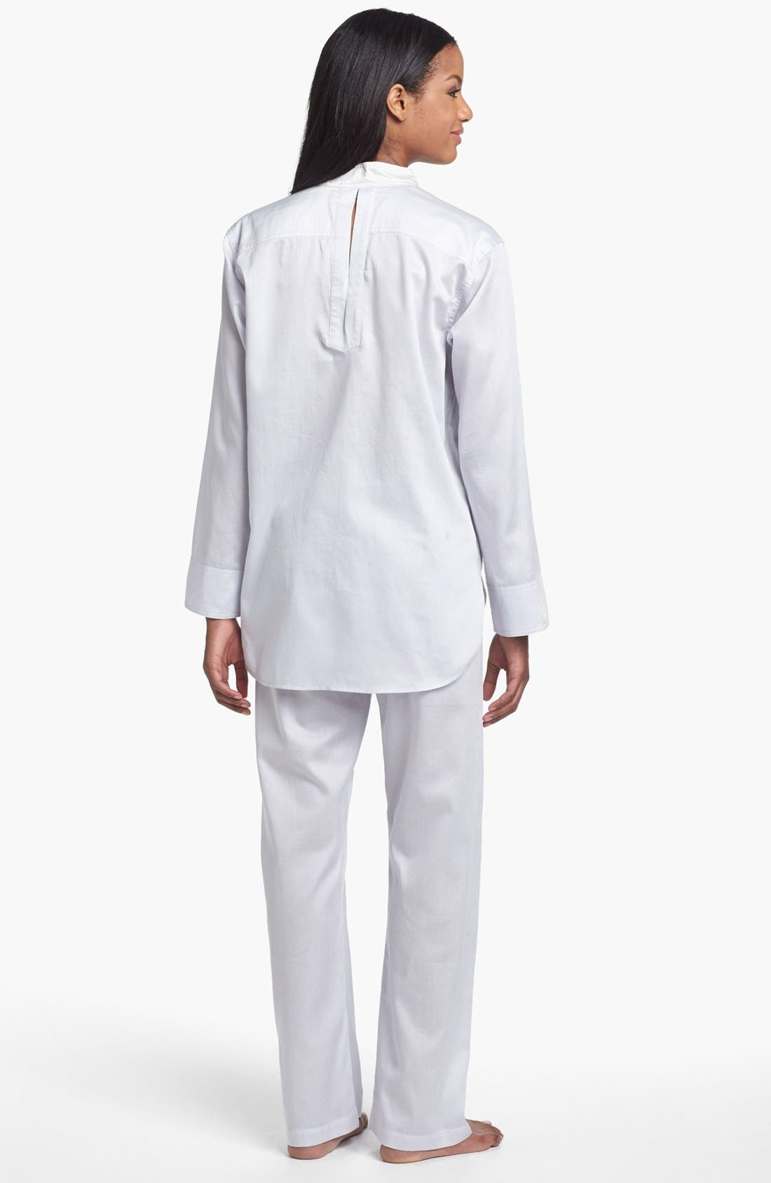 Alternate Image 2  - Donna Karan Woven Cotton Pajamas