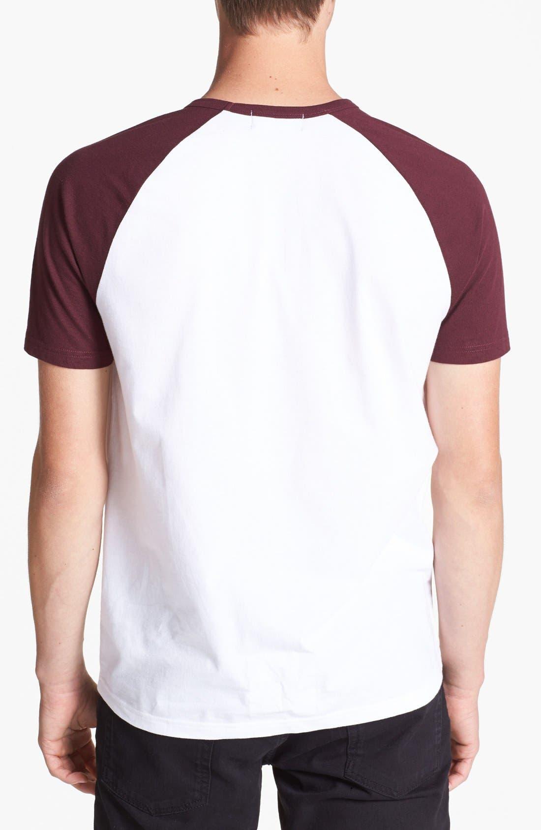 Alternate Image 2  - Topman Short Sleeve Baseball T-Shirt