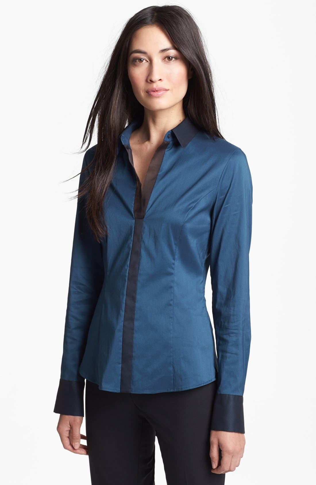 Main Image - BOSS HUGO BOSS 'Bashina' Tuxedo Trim Shirt