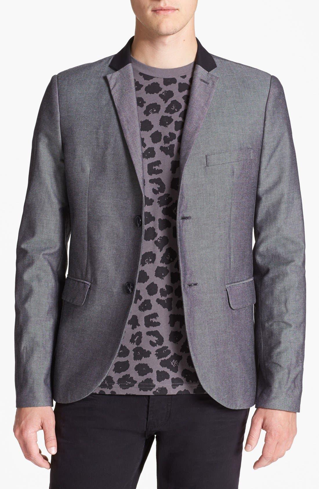 Alternate Image 1 Selected - Topman Skinny Cotton Blazer