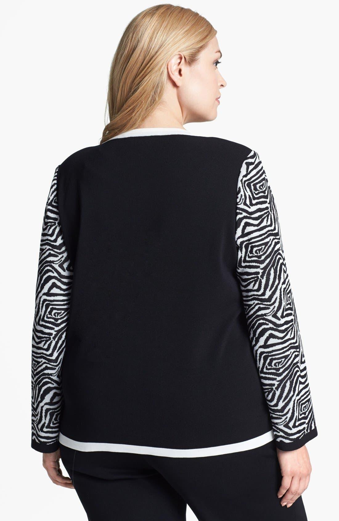 Alternate Image 2  - Misook 'Marisol' Two Tone Jacket (Plus Size)