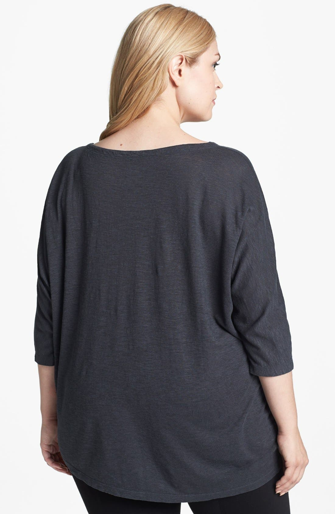 Alternate Image 2  - Eileen Fisher Hemp & Organic Cotton Top (Plus Size)