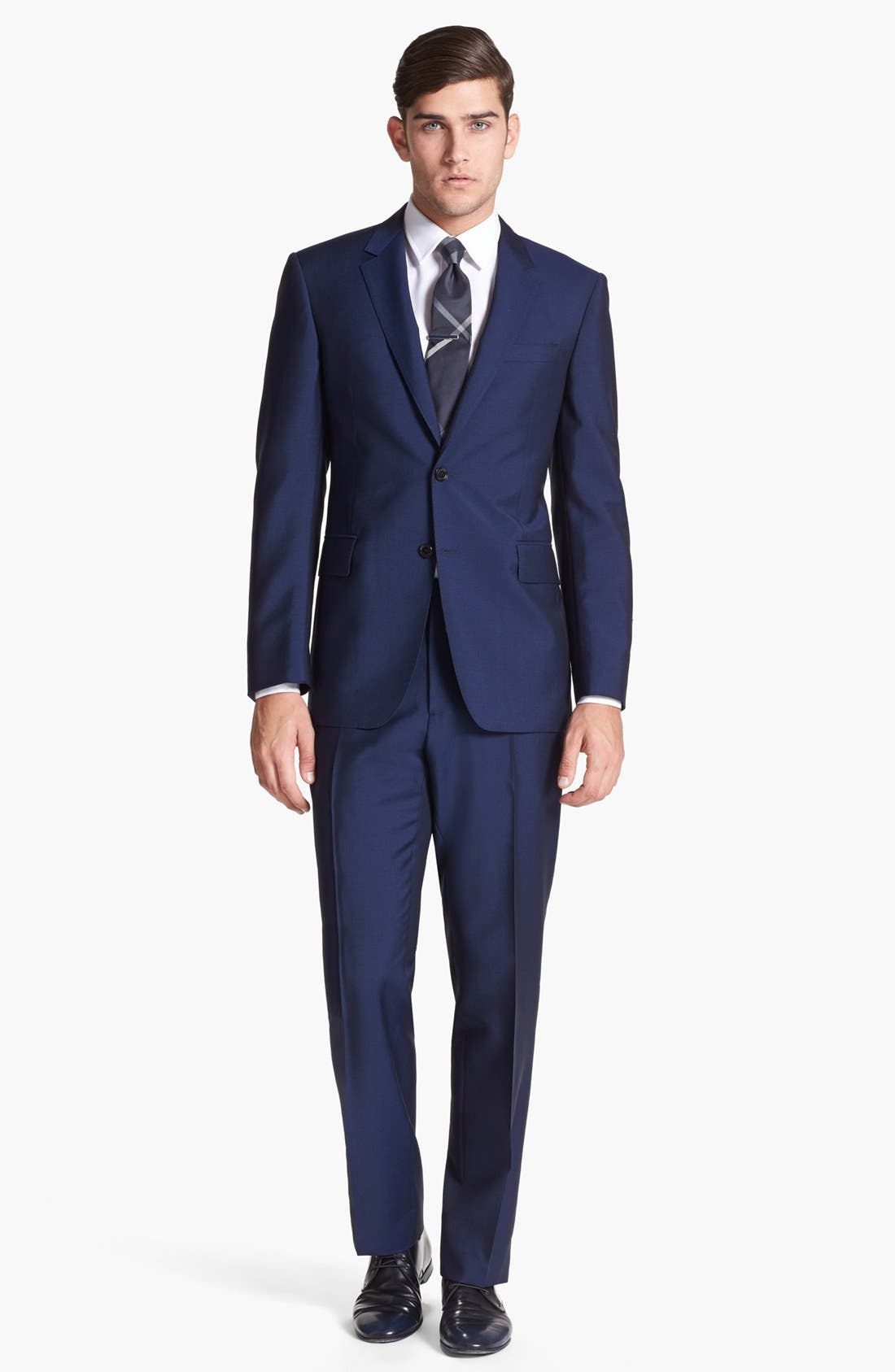 Alternate Image 1 Selected - Burberry London Navy Wool & Mohair Suit