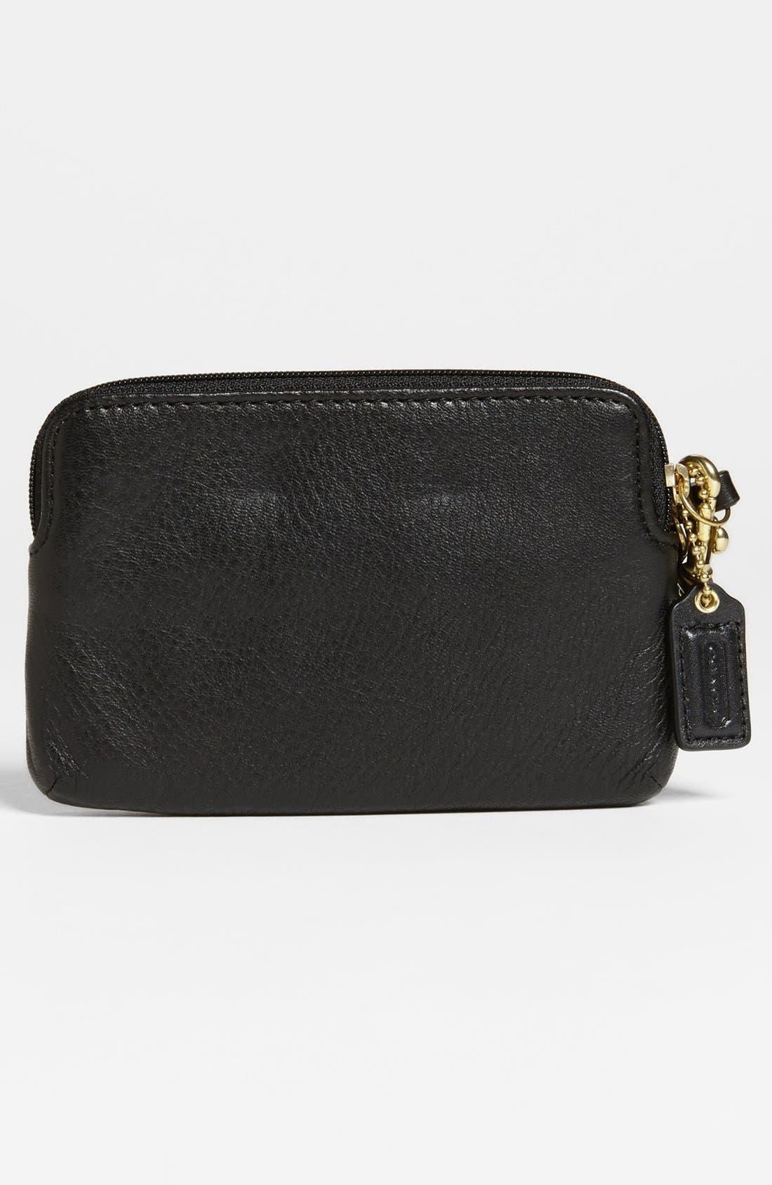 Alternate Image 4  - COACH 'Poppy' Leather Wristlet