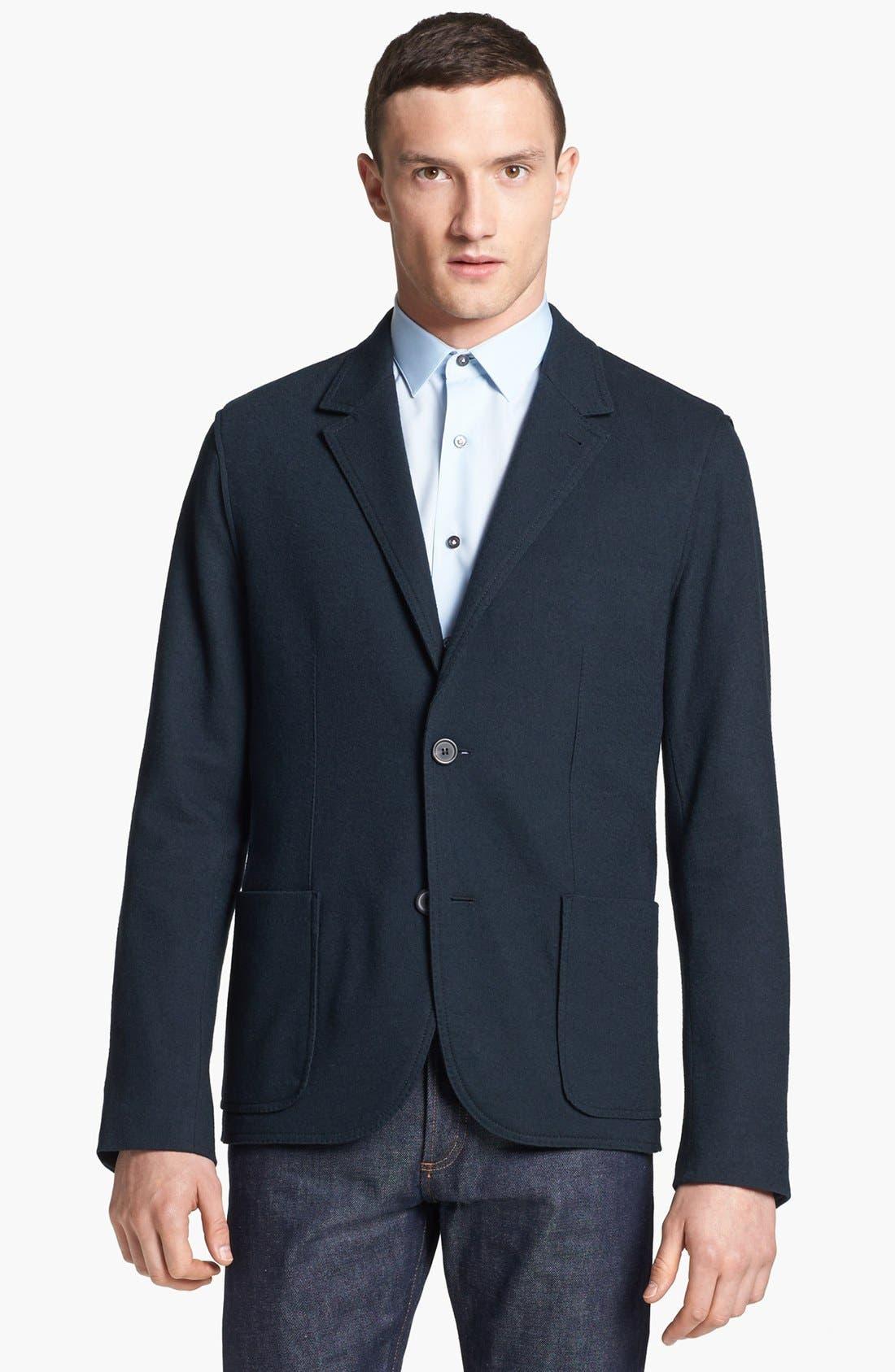 Alternate Image 1 Selected - Lanvin Deconstructed Wool Blazer