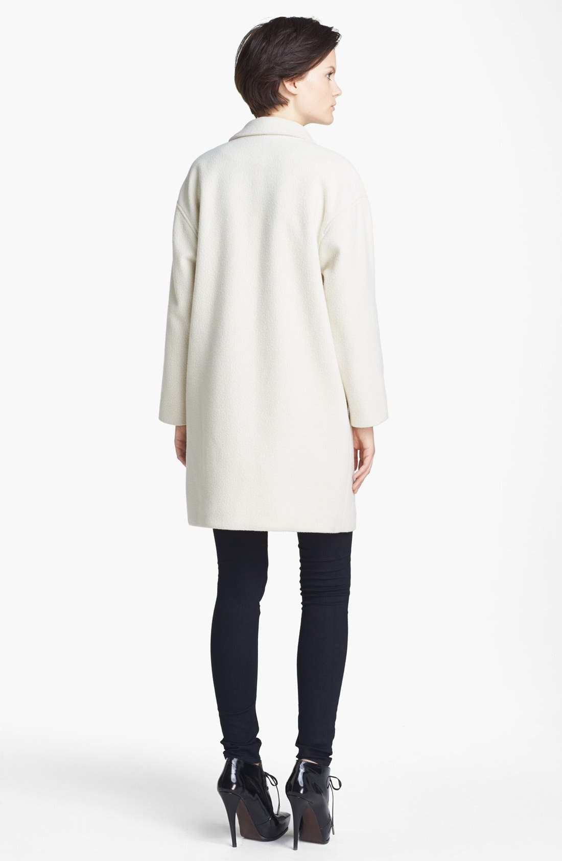 Alternate Image 3  - A.P.C. Felted Wool Blend Coat