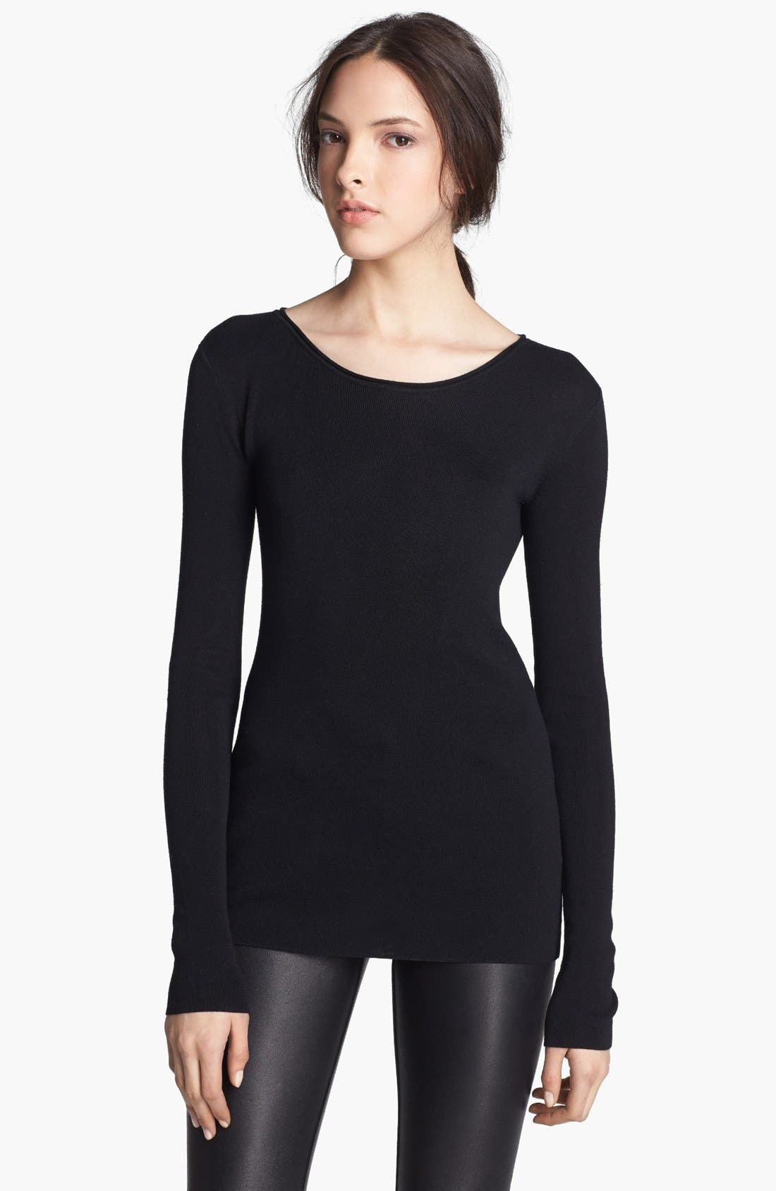 Alternate Image 1 Selected - T by Alexander Wang Fitted Jersey Sweater