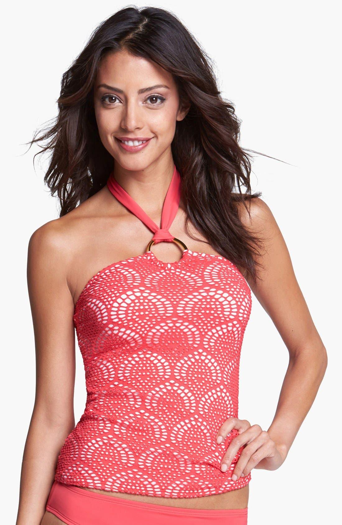 Alternate Image 1 Selected - La Blanca Crochet Tankini Top