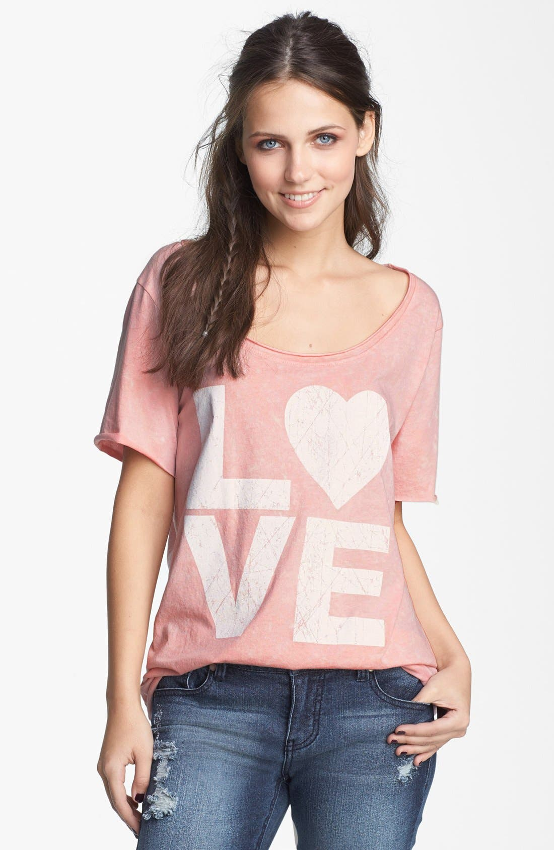 Alternate Image 1 Selected - Project Social T 'Love' Graphic Tee (Juniors)
