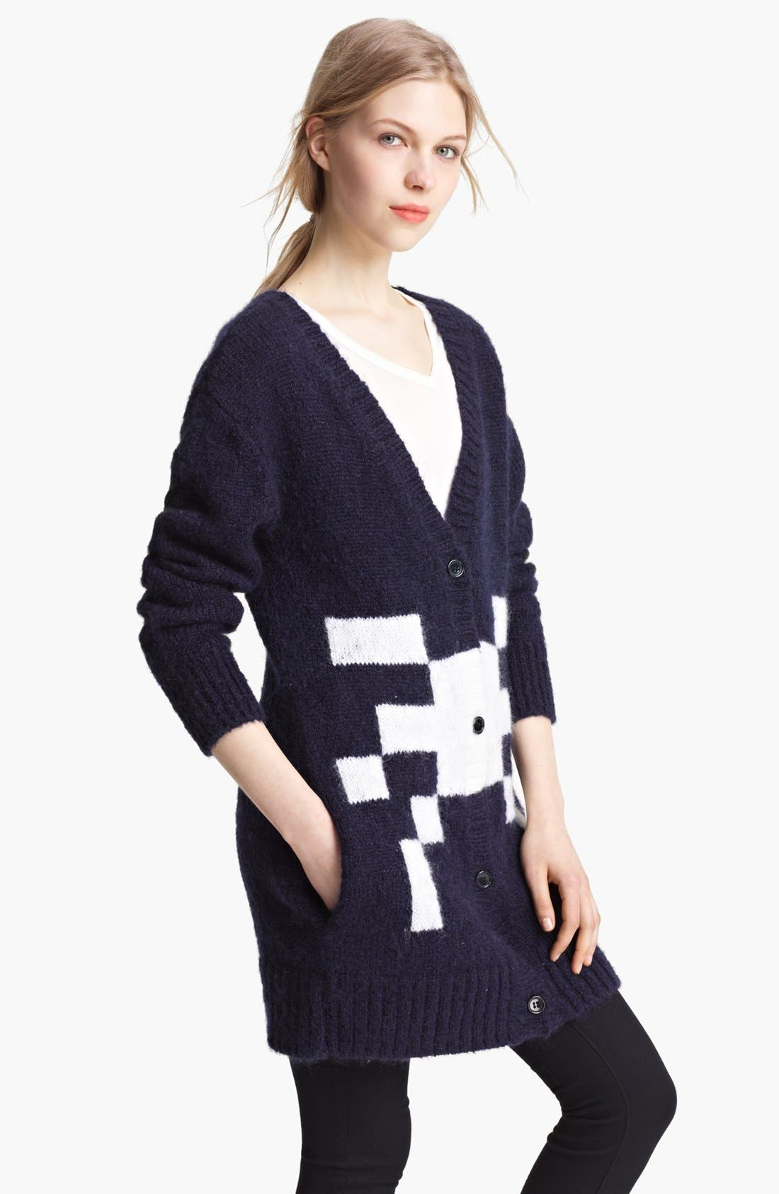 Alternate Image 1 Selected - Band of Outsiders 'Atari 2600 - Haunted House' Cardigan