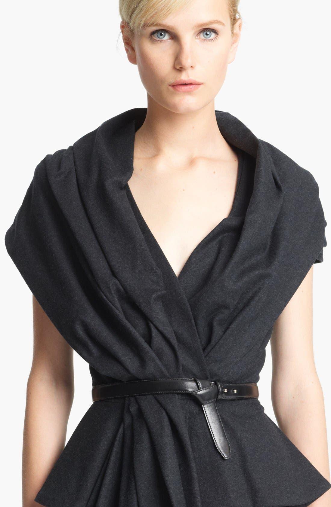 Alternate Image 1 Selected - Oscar de la Renta Tie Front Leather Belt