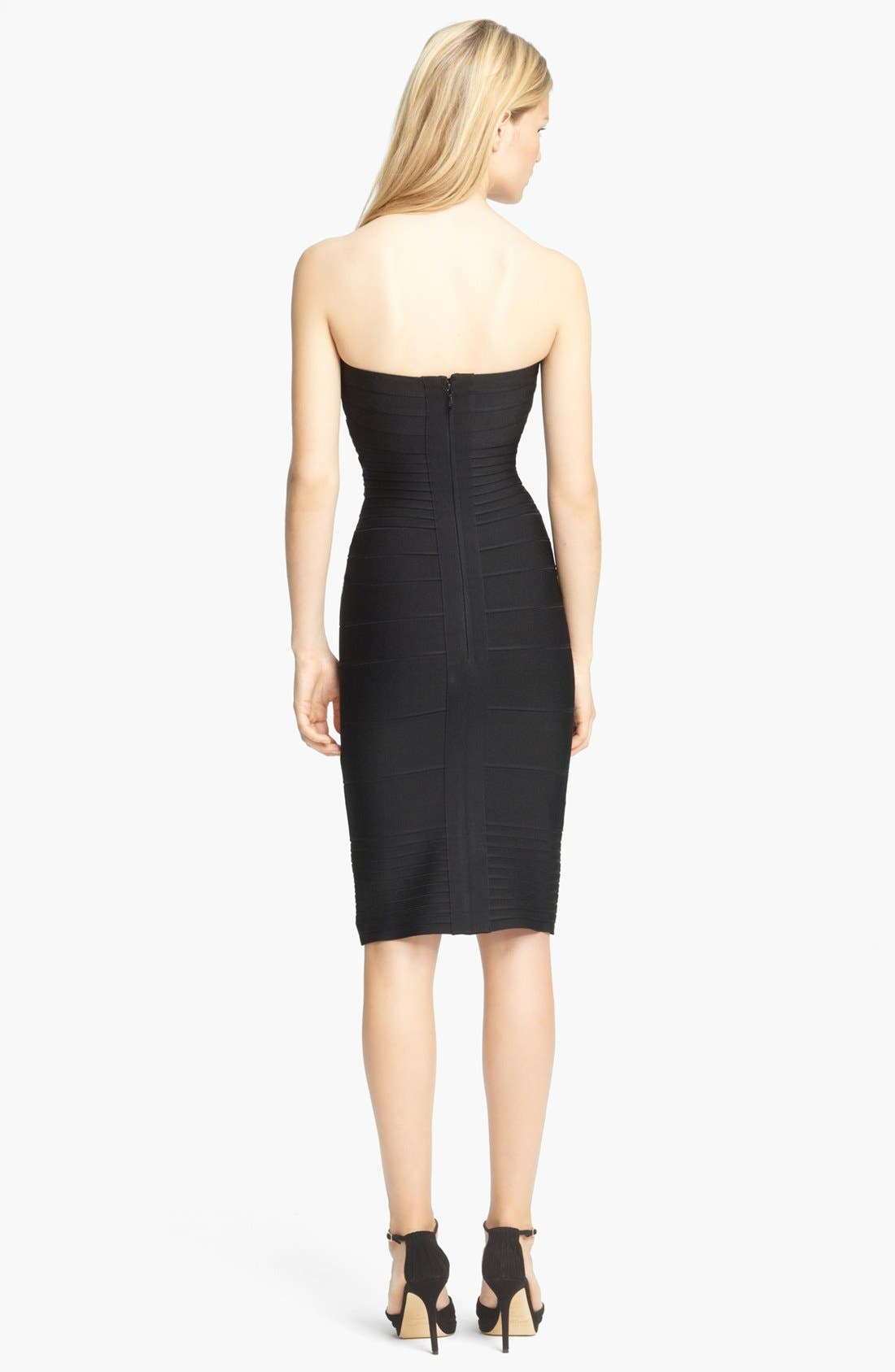 Alternate Image 2  - Herve Leger Strapless Bandage Dress