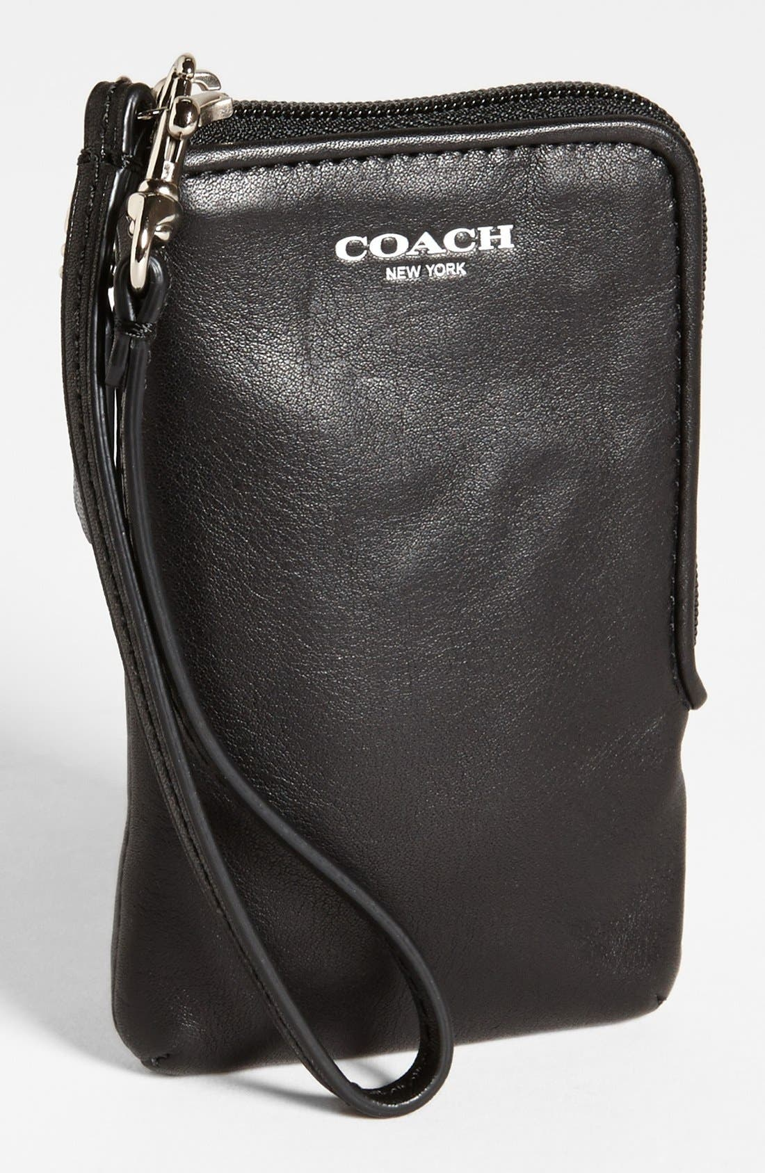 Alternate Image 1 Selected - COACH 'Legacy' Leather Phone Wristlet
