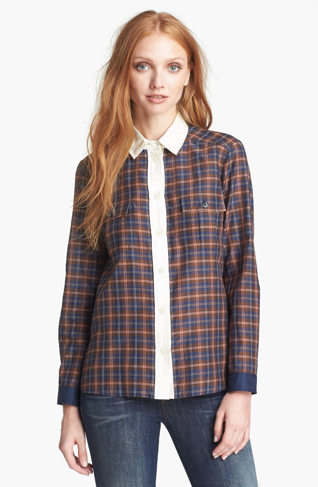 Alternate Image 1 Selected - MARC BY MARC JACOBS 'Abigail' Plaid Shirt