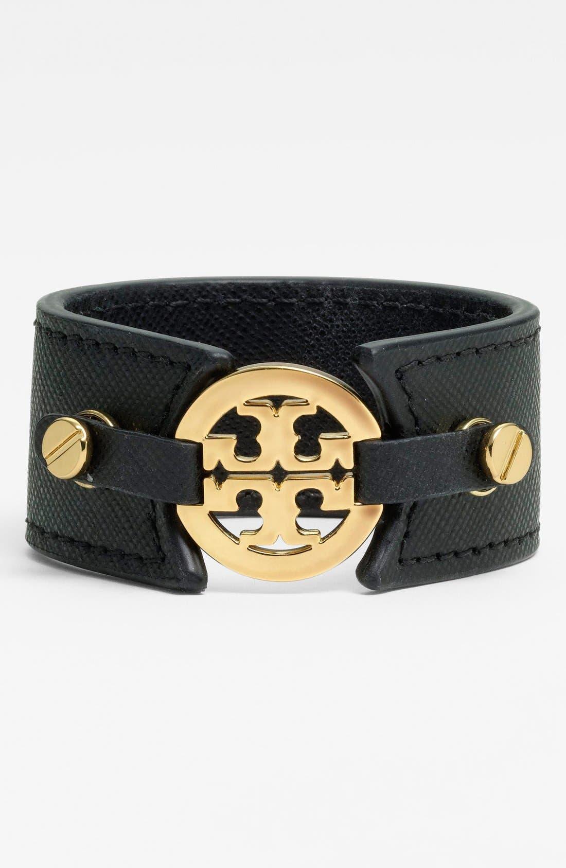 Alternate Image 1 Selected - Tory Burch Leather Bracelet