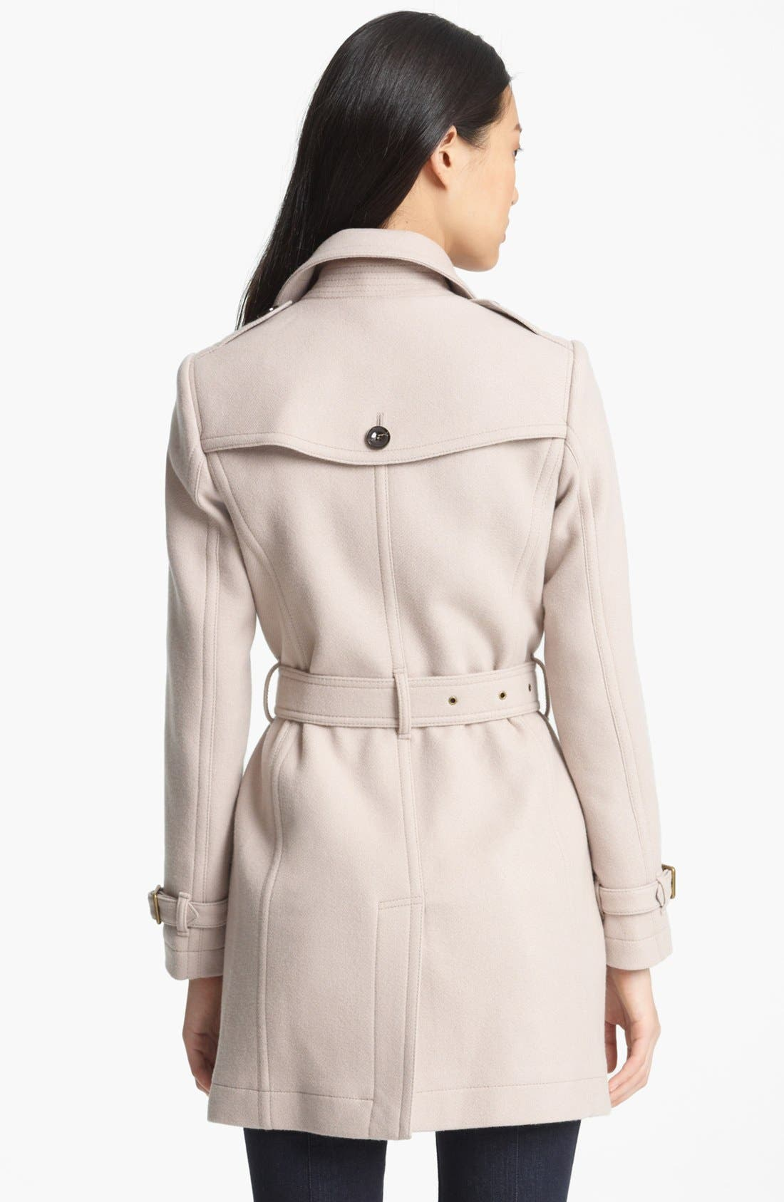 Alternate Image 2  - Burberry Brit 'Crombrook' Wool Blend Trench Coat