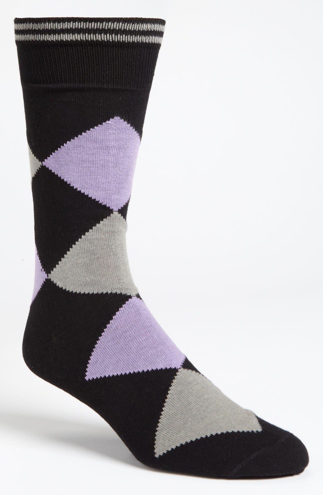 Alternate Image 1 Selected - Lorenzo Uomo Argyle Socks