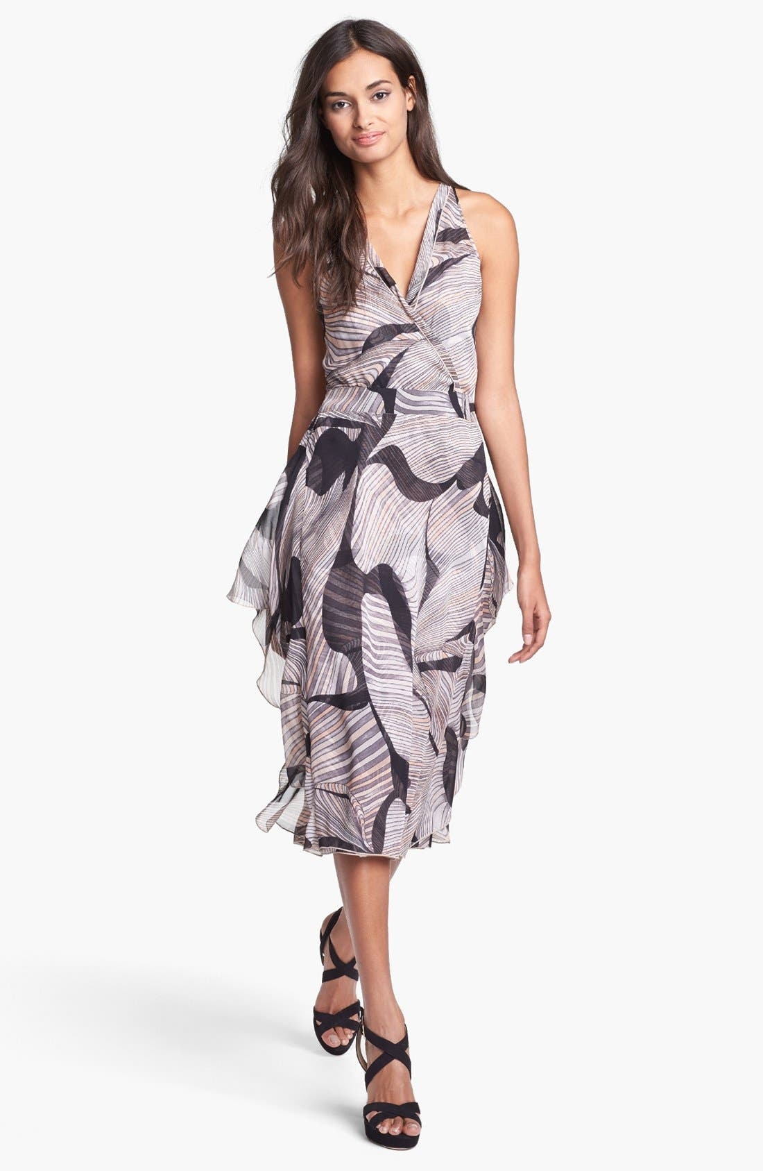 Main Image - Diane von Furstenberg 'Nydia' Silk Faux Wrap Dress