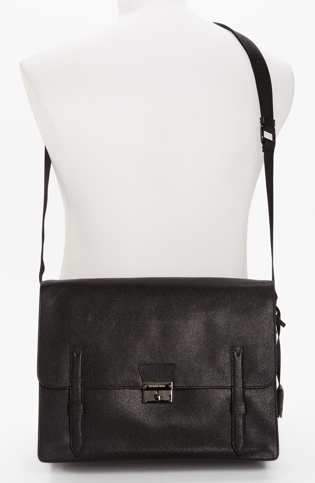Alternate Image 4  - Burberry 'Rivendale' Leather Messenger Bag