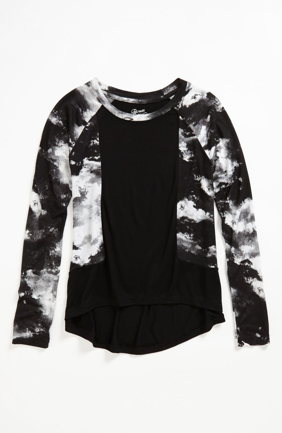 Main Image - Flowers by Zoe Tie Dye High/Low Tunic Top (Big Girls) (Online Only)