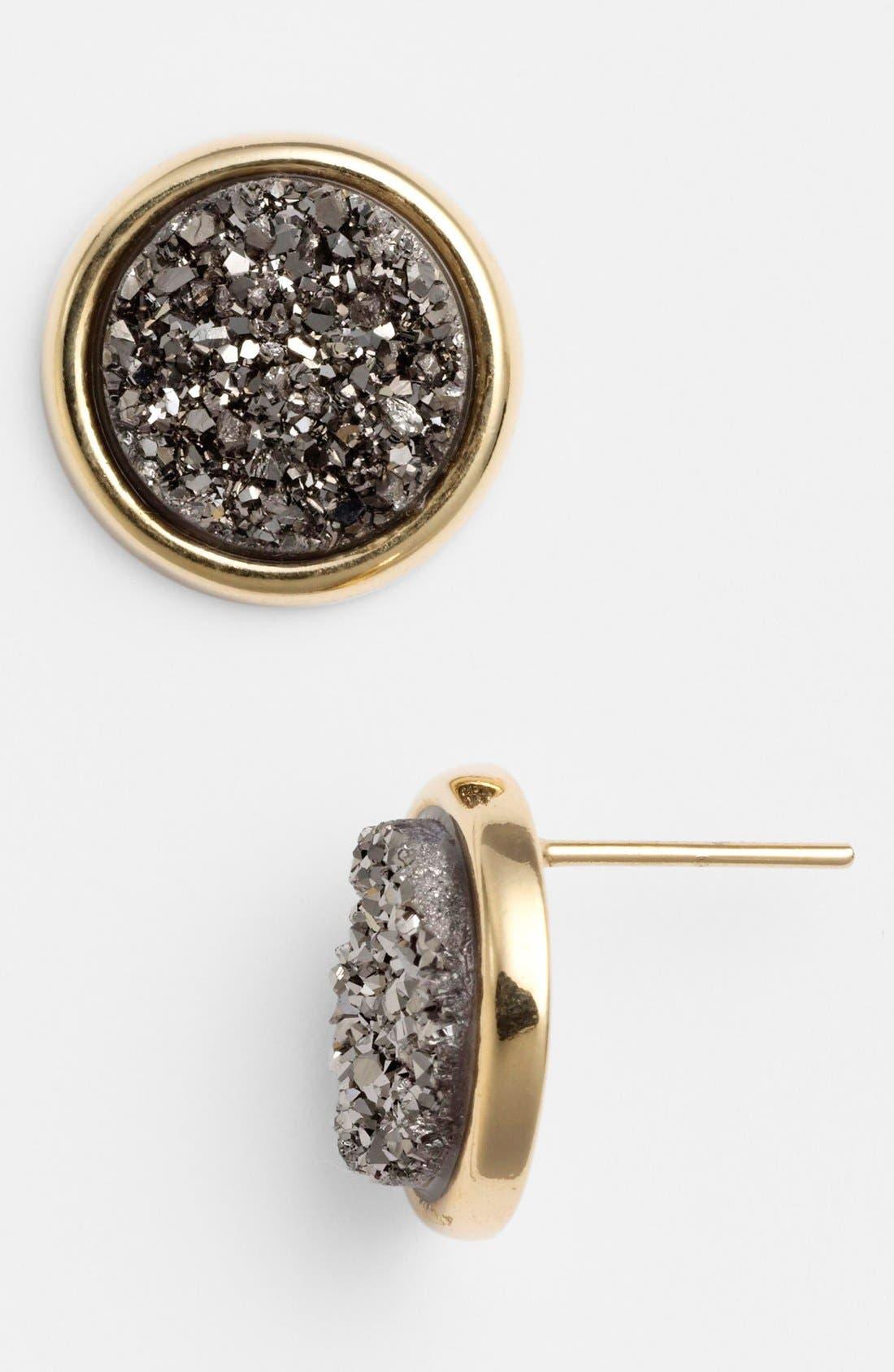 Alternate Image 1 Selected - Marcia Moran Medium Drusy Stud Earrings (Online Only)