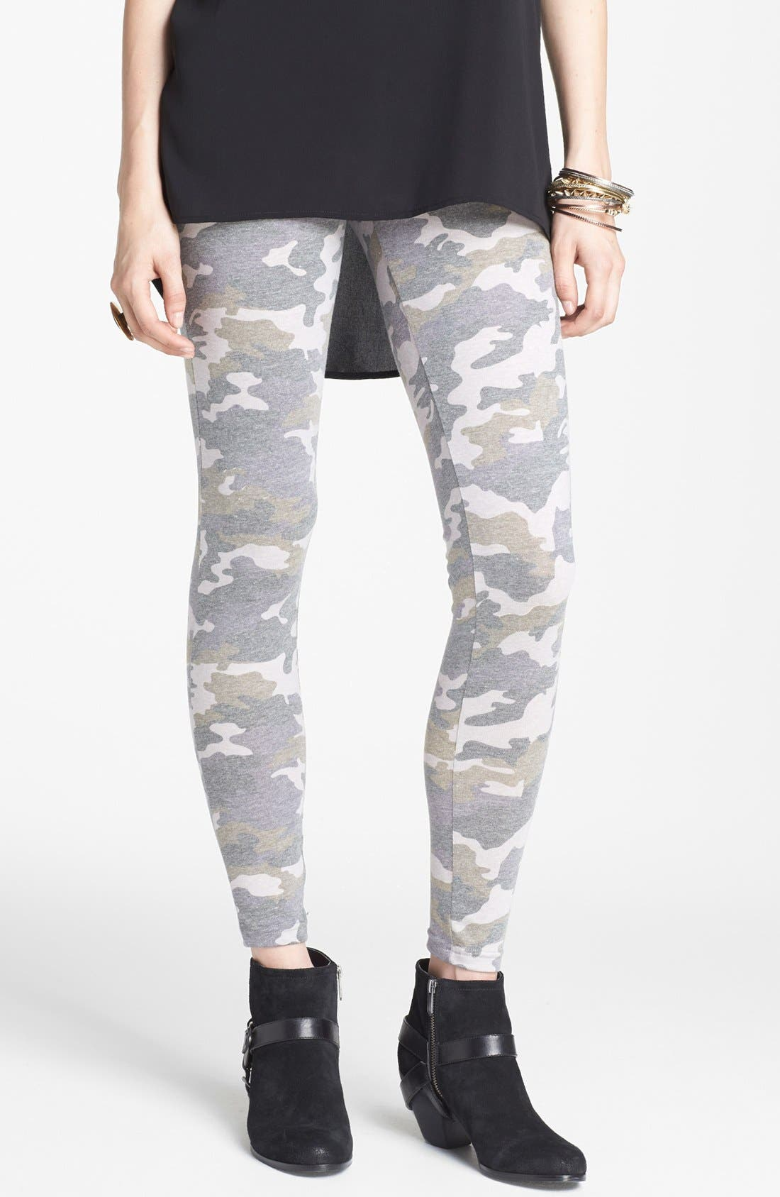 Alternate Image 1 Selected - BP. Camouflage Leggings (Juniors)