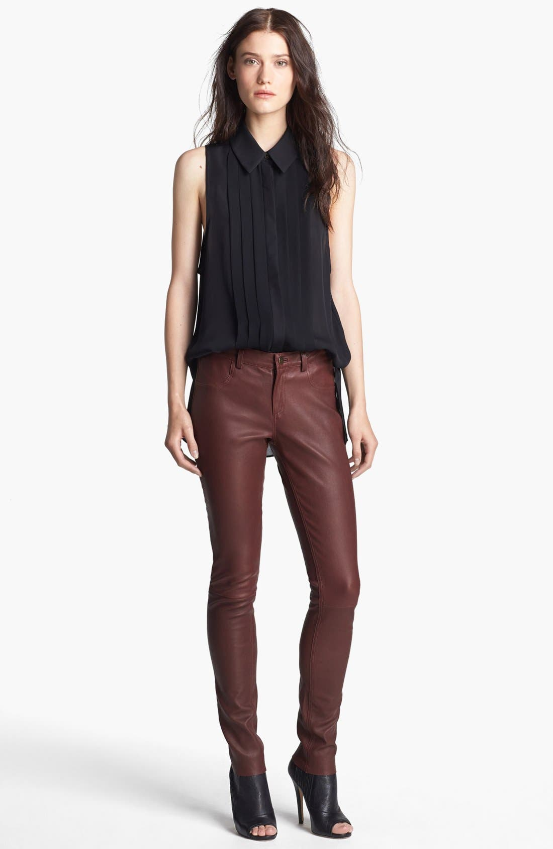 Alternate Image 3  - Haute Hippie Skinny Leather Pants