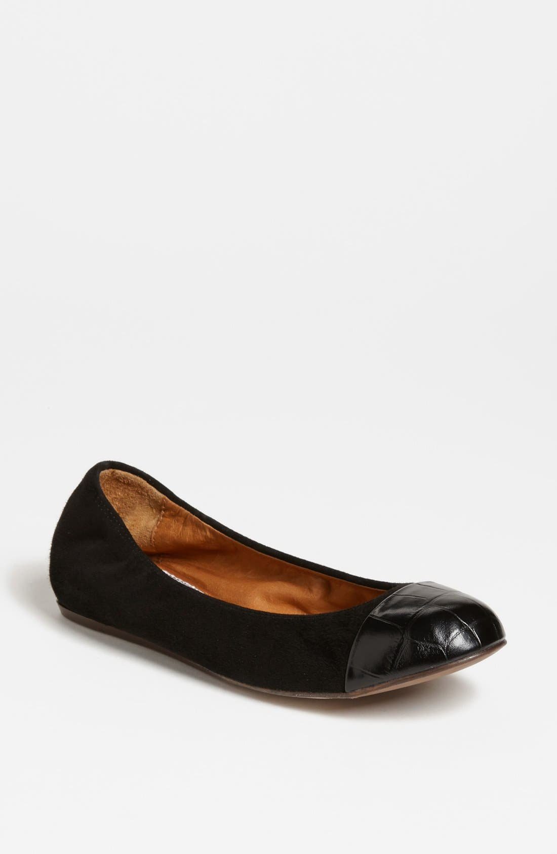 Alternate Image 1 Selected - Lanvin Cap Toe Ballerina Flat