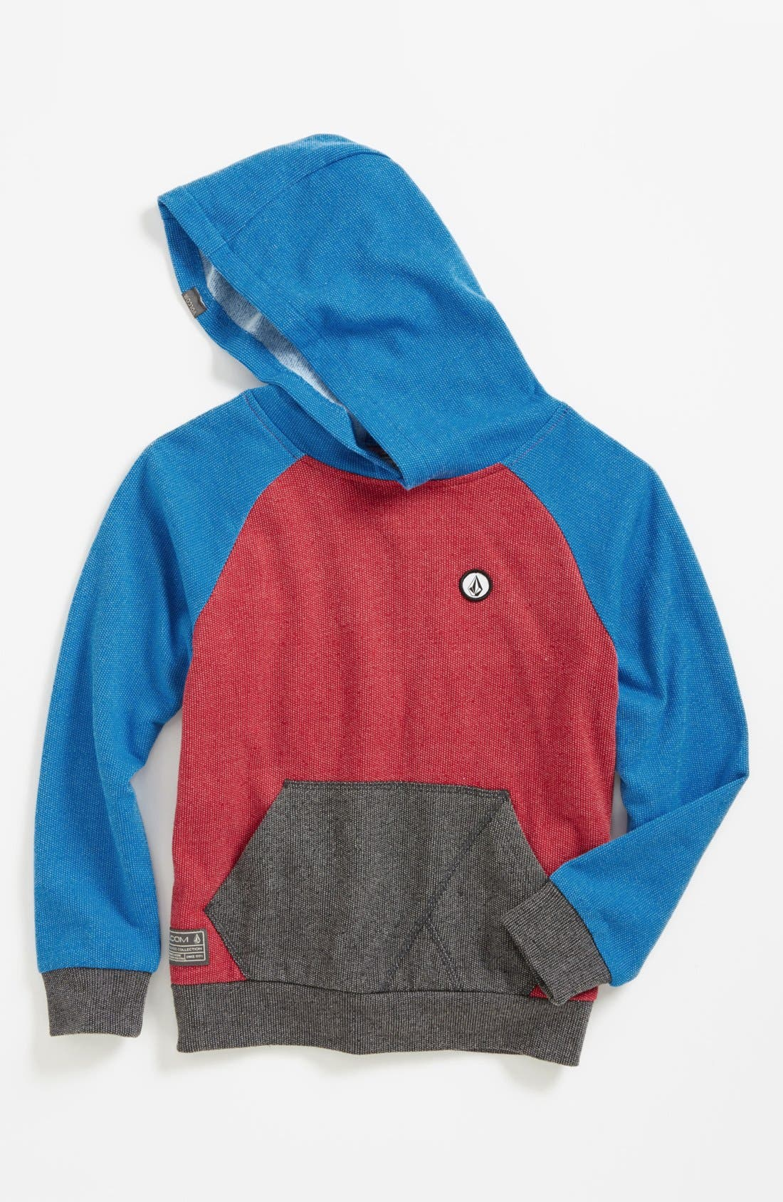 Alternate Image 1 Selected - Volcom 'Stone' Colorblock Pullover Hoodie (Toddler Boys)