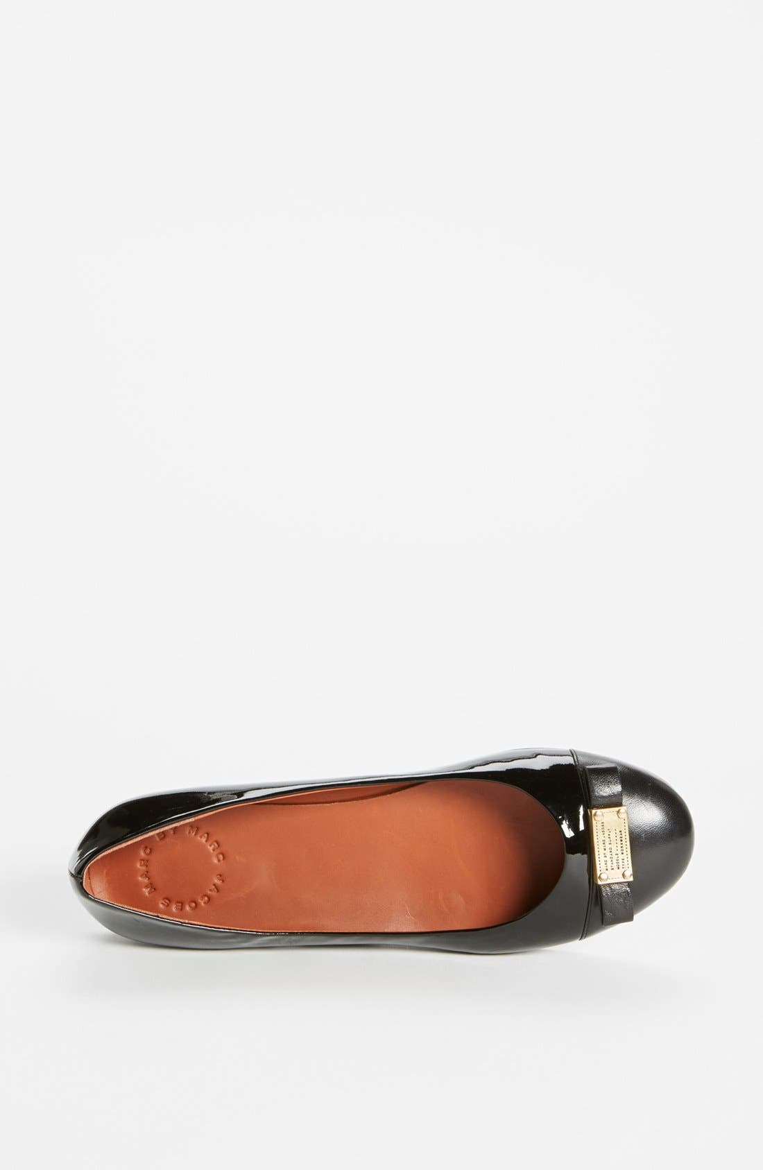 Alternate Image 3  - MARC BY MARC JACOBS 'Tuxedo' Logo Plaque Ballerina Flat