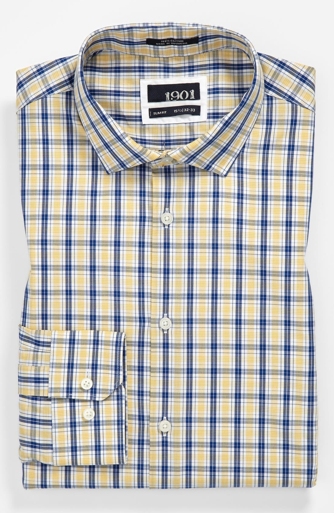 Alternate Image 1 Selected - 1901 Slim Fit Plaid Dress Shirt
