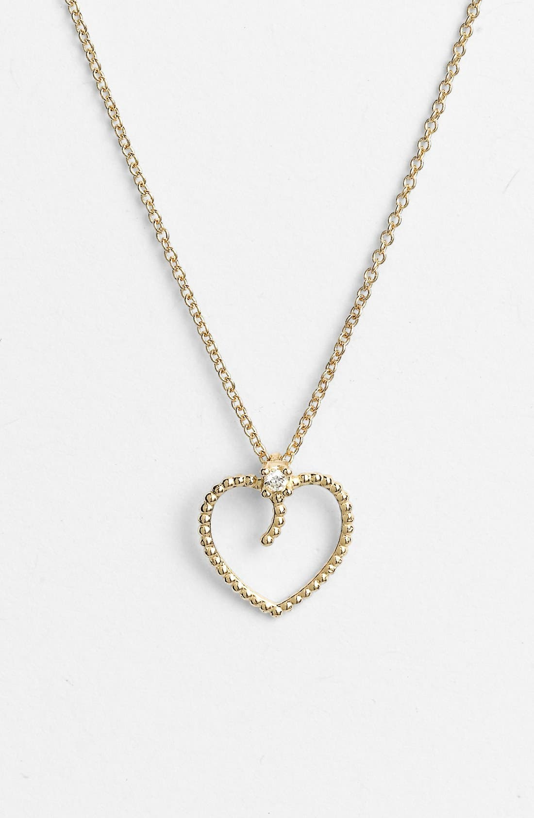 Alternate Image 1 Selected - Roberto Coin 'Tiny Treasures' Diamond Heart Pendant Necklace