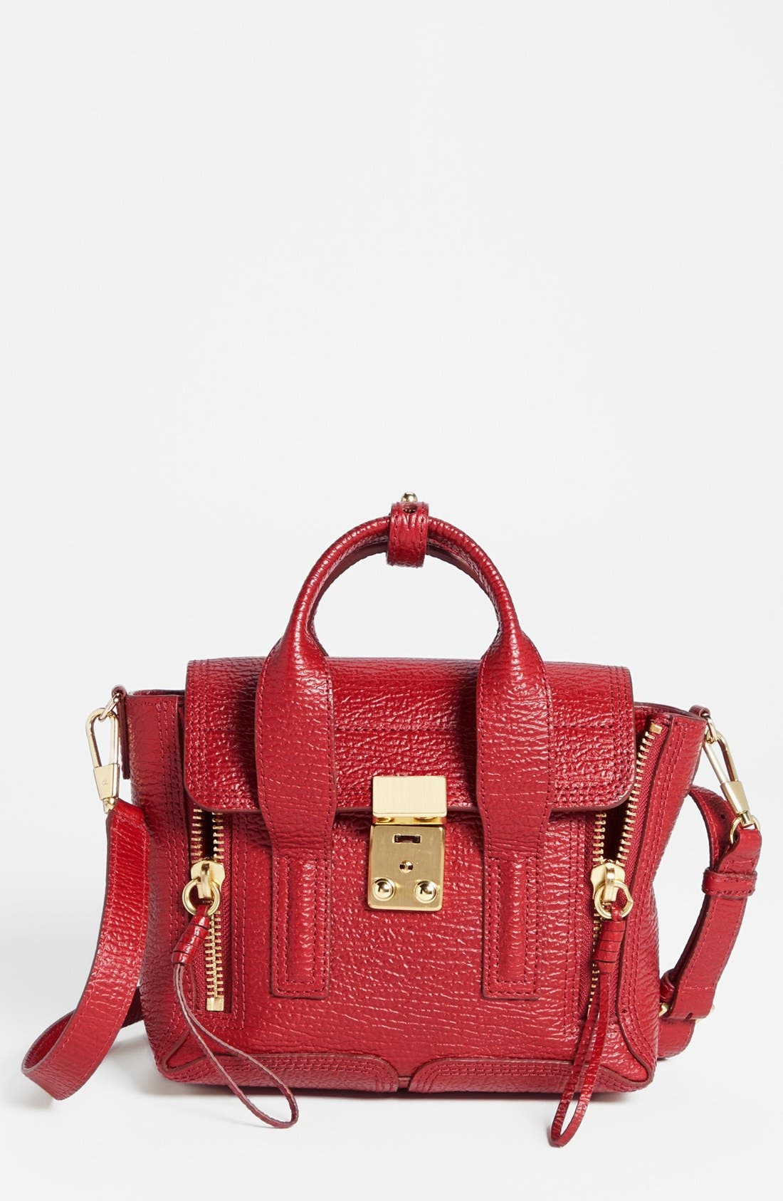 Alternate Image 1 Selected - 3.1 Phillip Lim 'Mini Pashli' Shark Embossed Leather Satchel
