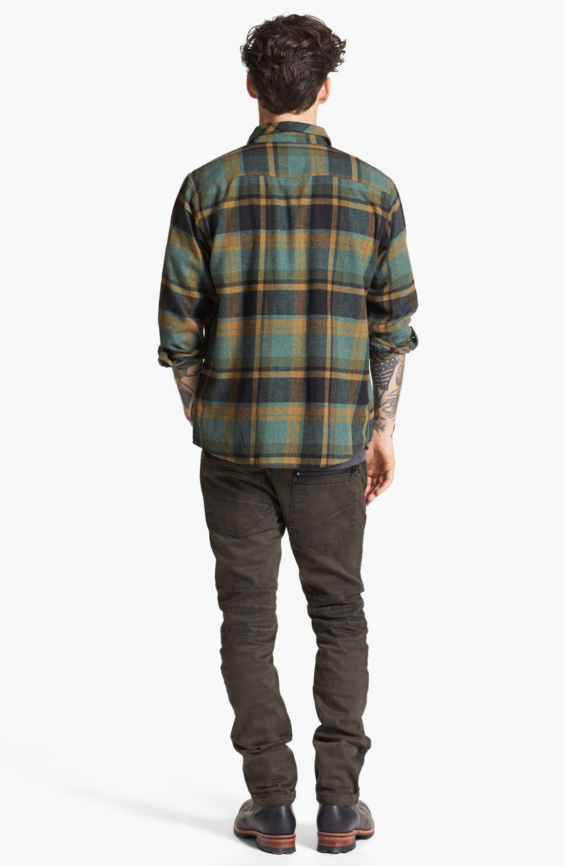 Alternate Image 5  - Brixton 'Bowery' Plaid Flannel Shirt