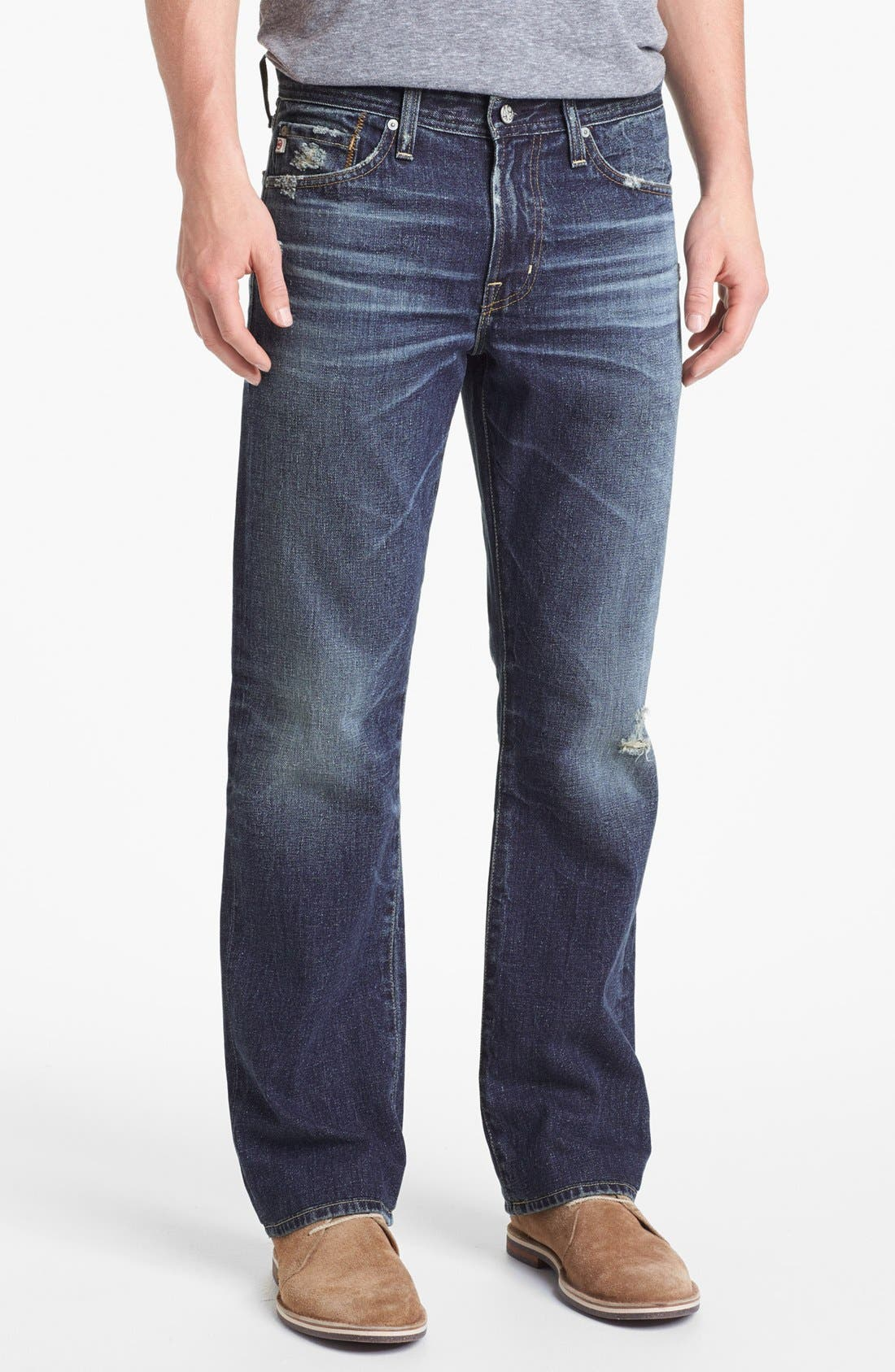 Alternate Image 1 Selected - AG 'Protégé' Straight Leg Jeans (17-Years Original)