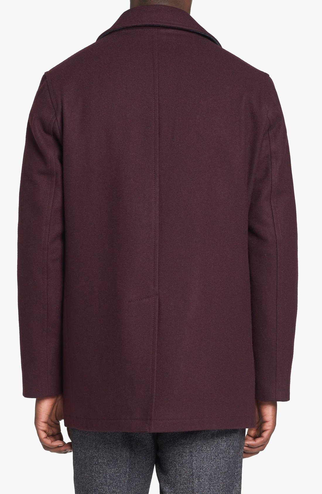 Alternate Image 2  - Michael Kors 'San Diego' Wool Blend Peacoat (Online Exclusive)