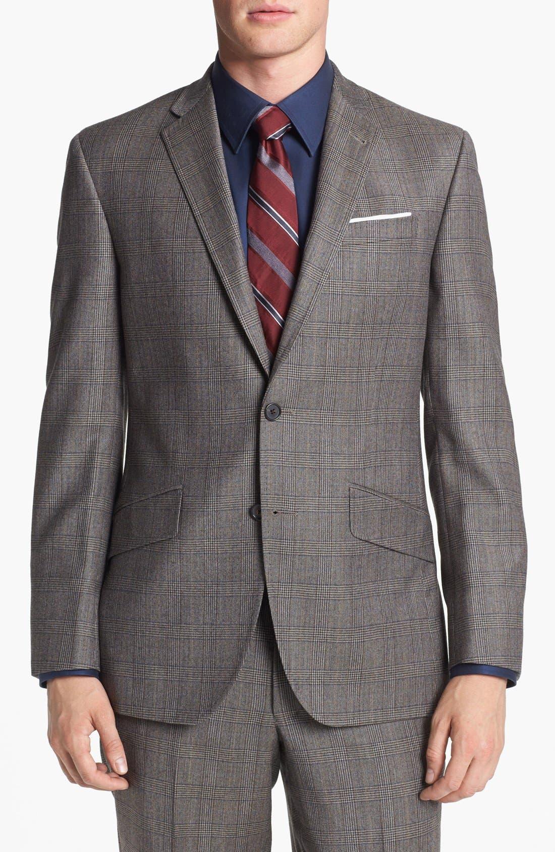 Alternate Image 4  - Ted Baker London 'Jones' Trim Fit Plaid Suit