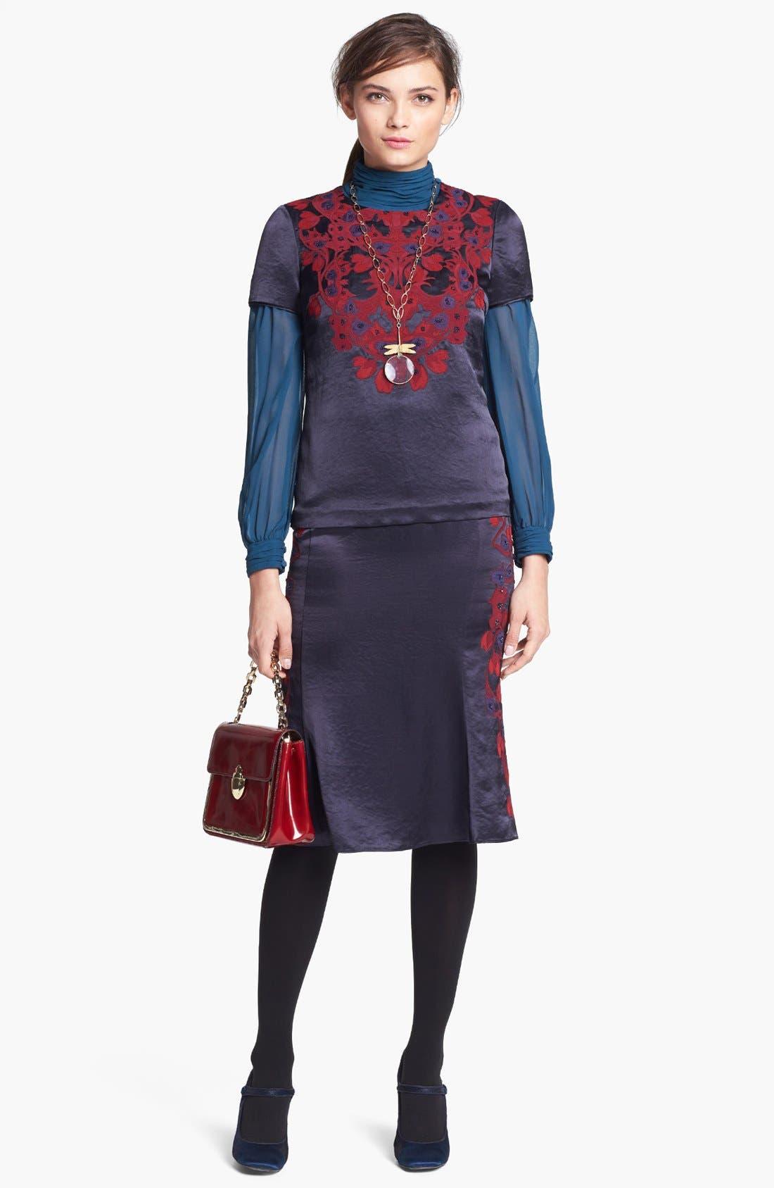 Alternate Image 2  - Tory Burch 'Jasmine' Pleated Silk Blouse