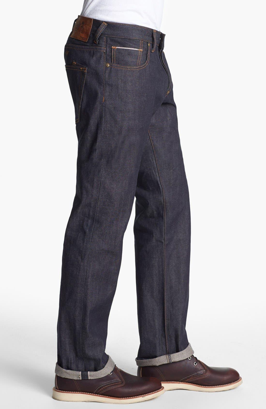 Alternate Image 3  - PRPS 'Barracuda' Straight Leg Selvedge Jeans (Raw)