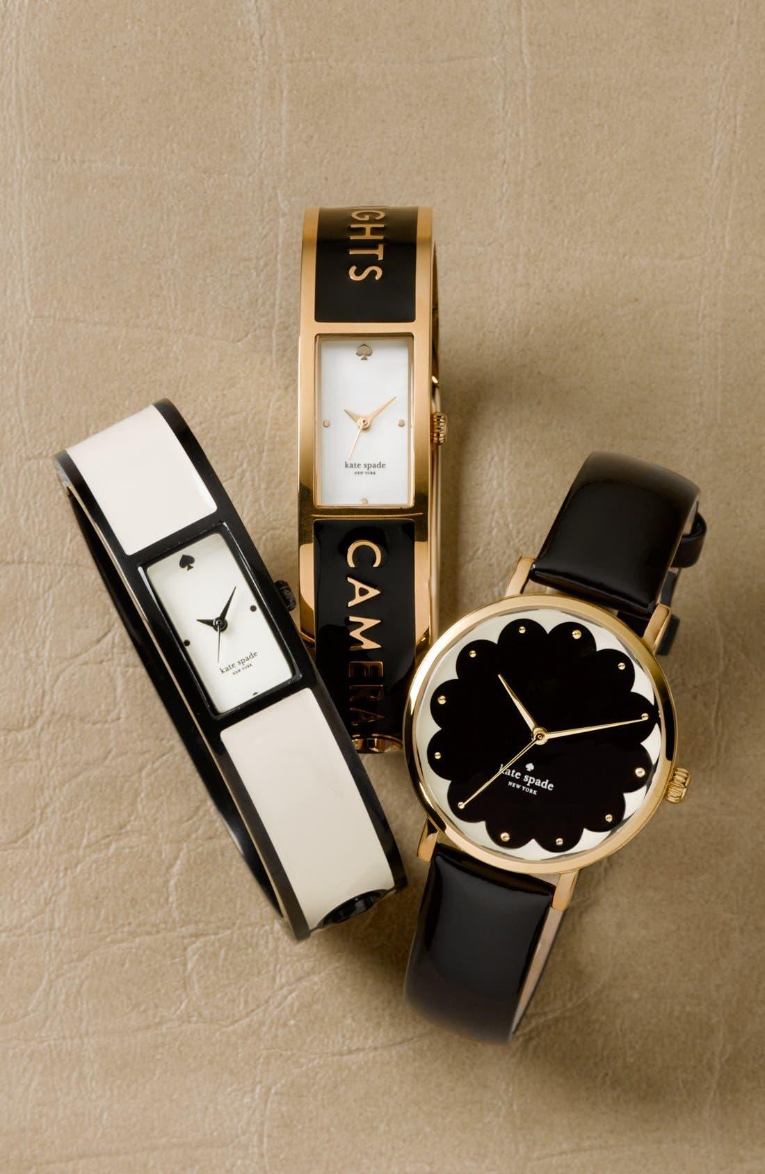 Alternate Image 3  - kate spade new york 'metro' patterned dial watch, 34mm