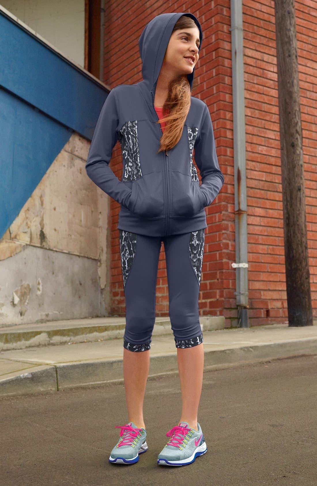 Alternate Image 3  - Zella Girl 'Sprinter' Capri Pants (Little Girls & Big Girls)