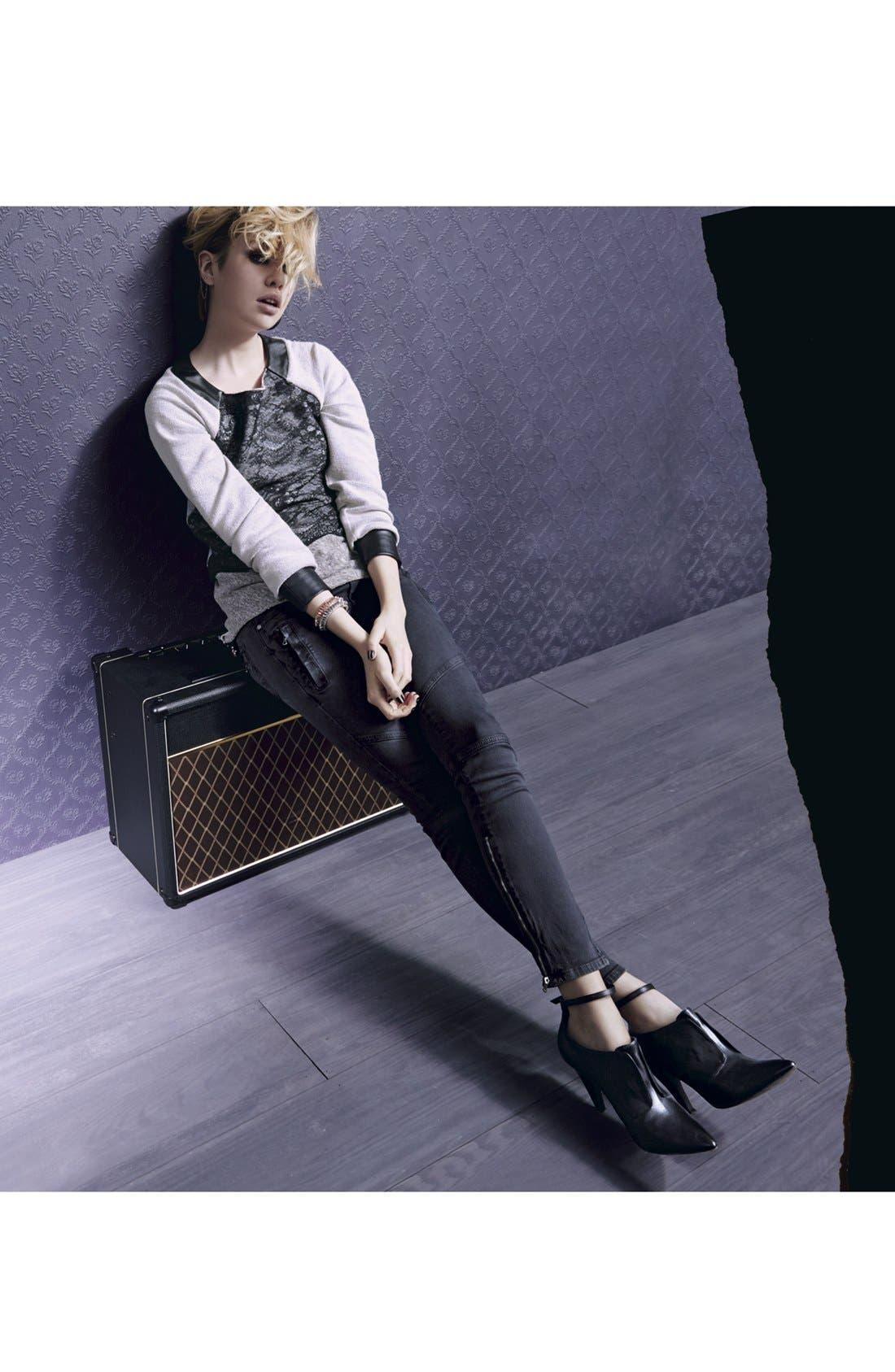 Alternate Image 4  - Paige Denim 'Marley' Seam Detail Skinny Jeans (Black Current)