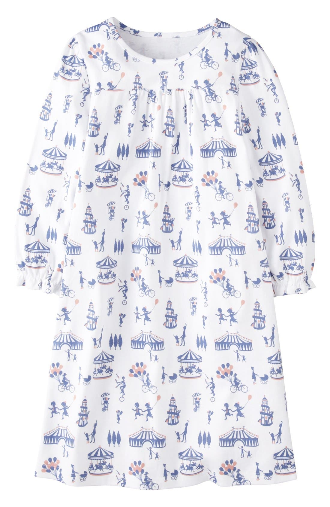 Main Image - Mini Boden Print Cotton Nightie (Little Girls & Big Girls)