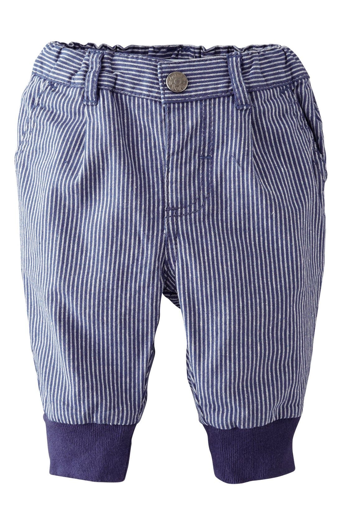 Main Image - Mini Boden Ribbed Cuff Pants (Baby Boys)