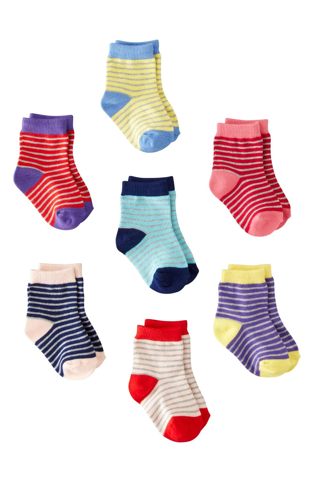 Alternate Image 1 Selected - Mini Boden Socks (7-Pack) (Baby)