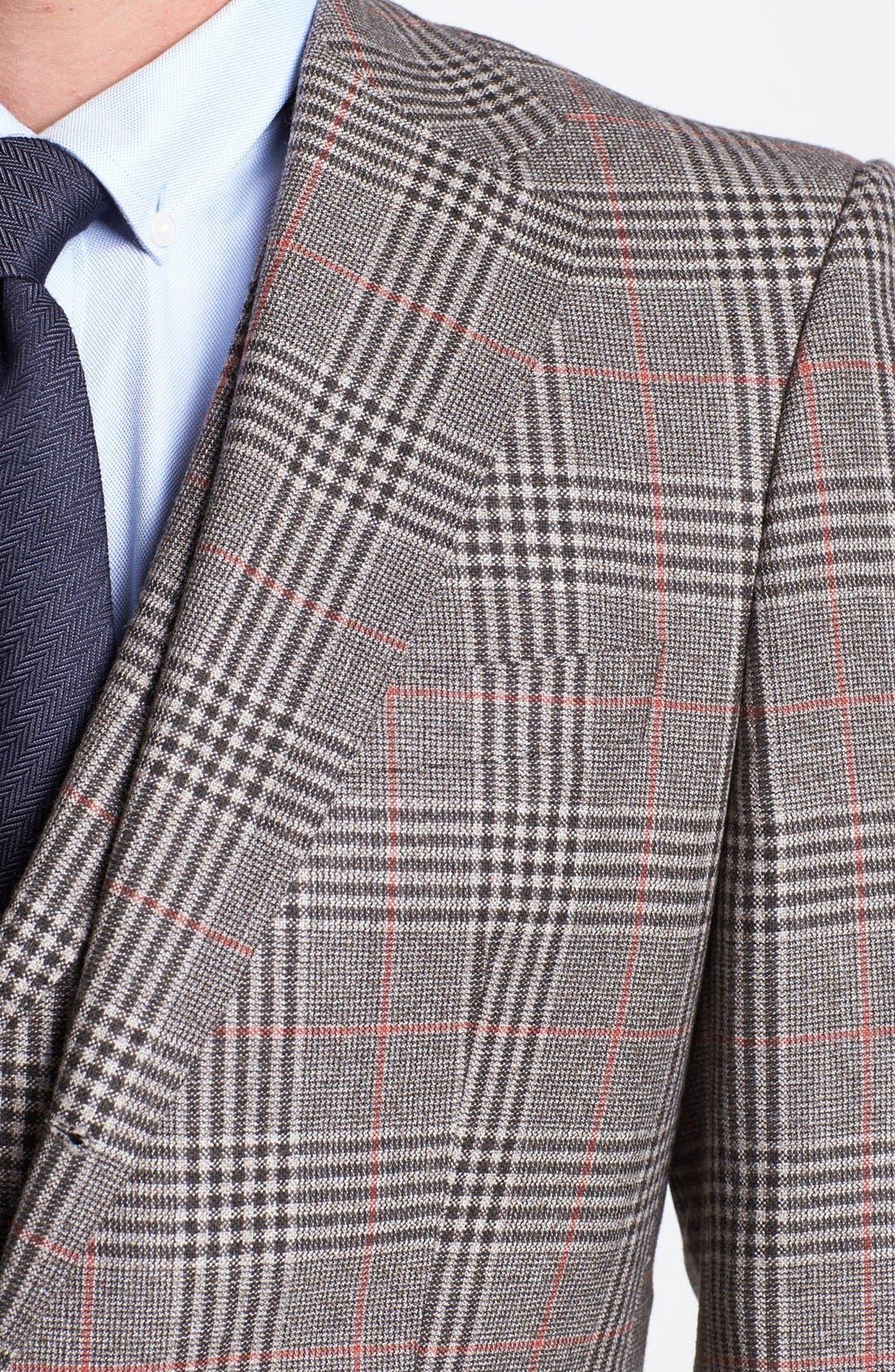 Alternate Image 2  - BOSS HUGO BOSS 'Dunham/Knight' Trim Fit Three Piece Suit (Online Only)