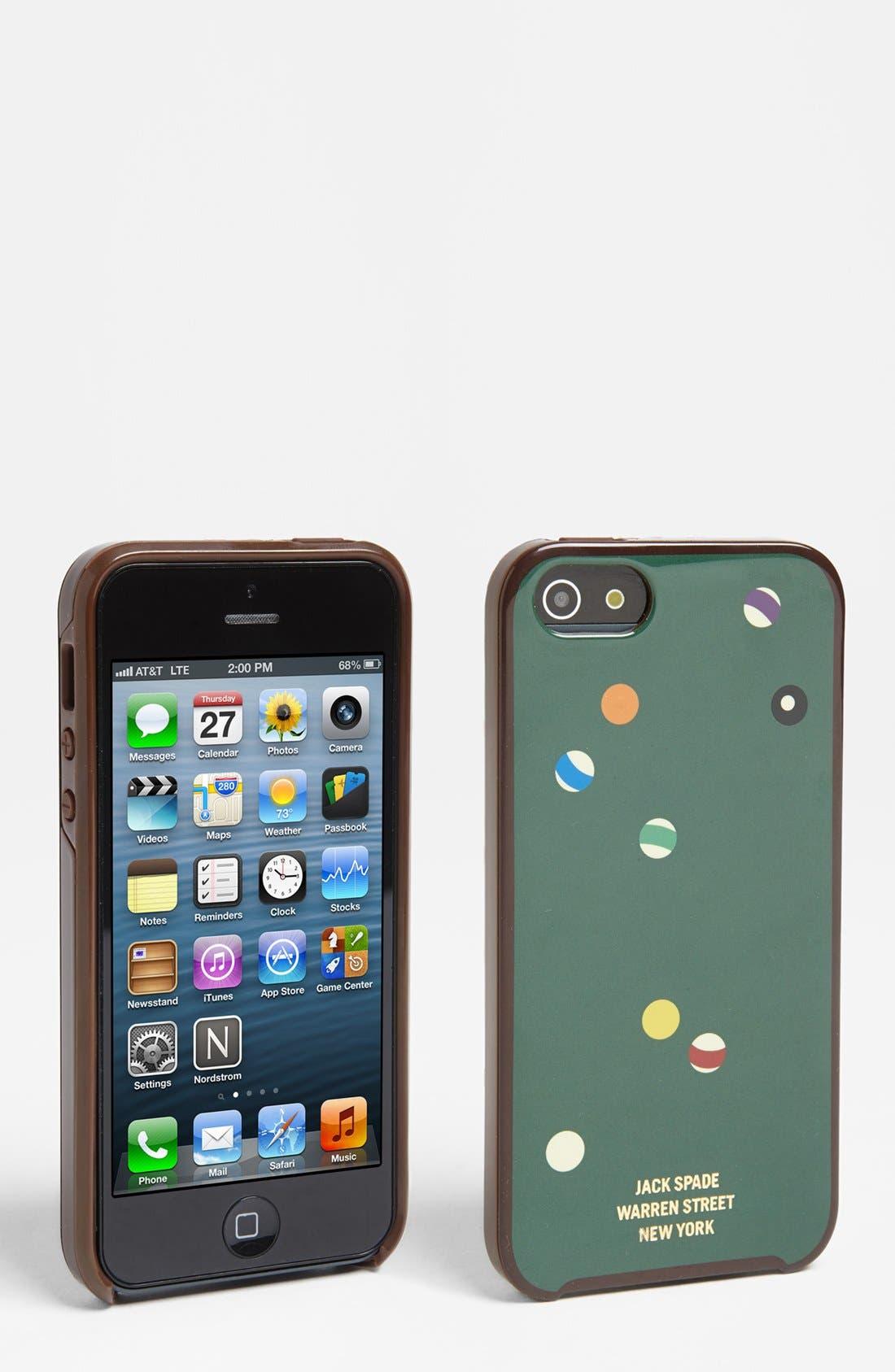 Alternate Image 1 Selected - Jack Spade 'Pool Table' iPhone 5 Case