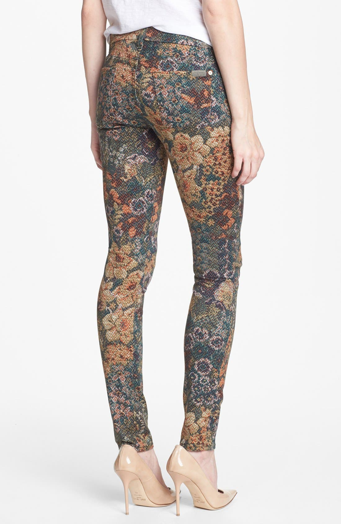Alternate Image 2  - 7 For All Mankind® 'The Skinny' Print Skinny Jeans (Digital Tapestry)