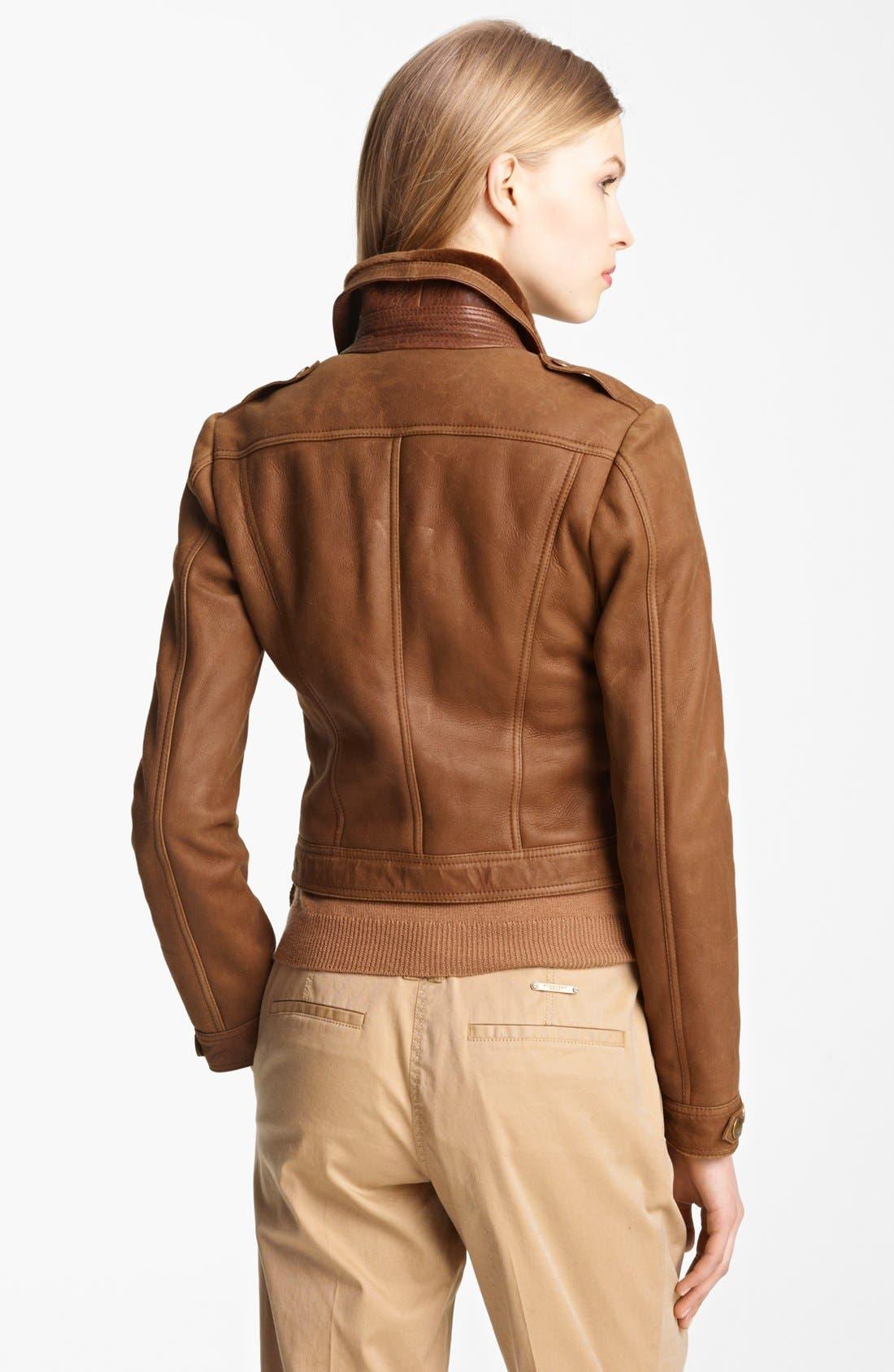 Alternate Image 2  - Burberry Brit 'Roebuck' Genuine Shearling Jacket
