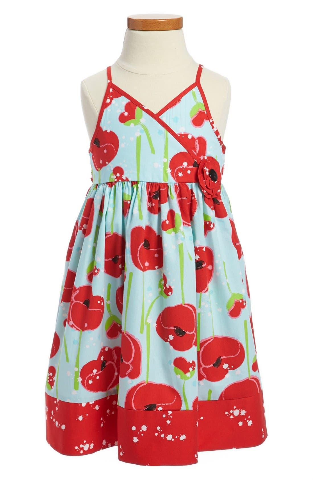 Main Image - Marmelatta Pansy Print Surplice Dress